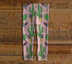 Leggings rose avec Cactus et ananas pour par Mesamisimaginaires