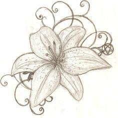 Tattoo Design Tiger Lily By Lguest Fyzz | Tattoo Share