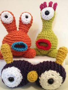 Monster Collection - stuffed amigurumi toys. $34.99, via Etsy.