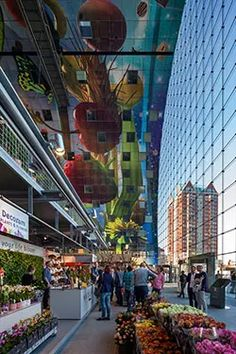 Will Rotterdam's Markthal be equivalent of Bilbao's Guggenheim?   Financial Times Facade Architecture, Contemporary Architecture, Rotterdam Market, Rotterdam Netherlands, Vegetable Design, Vegetable Shop, Mall Facade, Crm System, Mall Design
