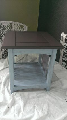 Last summer I fould a great deal on a set of Mission Style end tables and coffee table at a yard sale, I was so excited because I've al...