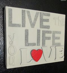 Wall Art- Spray Painted Sticker Letters on Canvas …