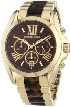 Michael Kors Bradshaw MK5696 - Reloj cronógrafo de cuarzo para mujer, correa de diversos materiales multicolor (cronómetro)