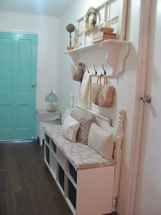 Five Brothers One Sister impressed me w this DIY bench fm old headboard & other salvaged items.
