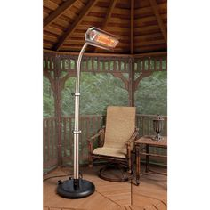 Infrared Pole Heater  $449.95  Efficient Portable Heating For Deck And Patio  Infrared Heaters Use