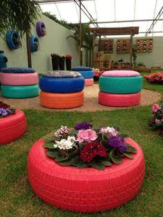 Recycled garden garden planters ≈≈