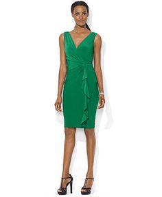 Lauren Ralph Lauren Dress, Sleeveless Side-Twist - Dresses - Women - Macy's