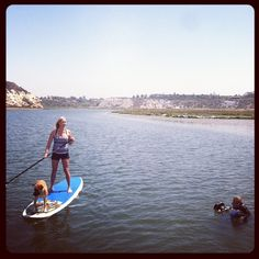 A sneak peek at the NEXT by Athena 2013 photo shoot! NEXT Brand Ambassador Nancy Malleo SUPing for the shoot.