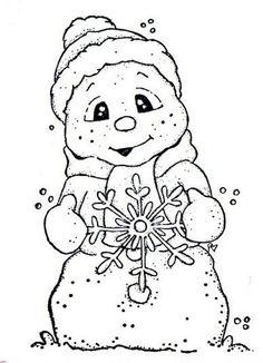 Snowman holding a snowflake Christmas Rock, Christmas Images, Christmas Colors, Christmas Crafts, Christmas Coloring Pages, Coloring Book Pages, Colorful Pictures, Colorful Drawings, Christmas Drawing