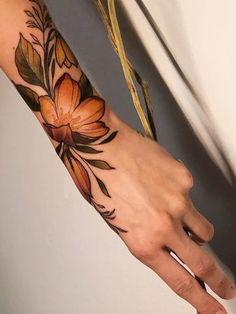 15 Beautiful Tattoos Ideas Pretty florals made by at in Berlin, Germany . Body Art Tattoos, Tribal Tattoos, Cool Tattoos, Celtic Tattoos, Best Forearm Tattoos, Henna Hand Tattoos, Pretty Hand Tattoos, Star Tattoos, Tatoos