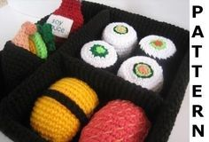 Seriously cute-- Play Food Crochet Pattern  Sushi  finished by CrochetNPlayDesigns, $5.00
