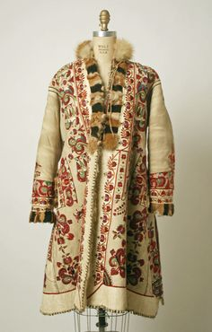 Antique Romanian leather coat, c. 1900