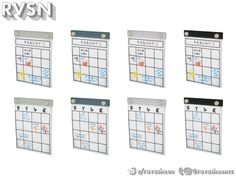 RAVASHEEN's Peg To Differ - Calendar Sims 4 Clutter, Sims Community, Sims Resource, Electronic Art, Sims Cc, Calendar, Zodiac Signs, Collections, Storage