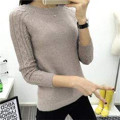 24d33875222429 6 Colors Sweaters Women 2016 Hot Sale Winter O-neck Long Sleeve Pullovers  Knitted Sweater Female Warm Tops