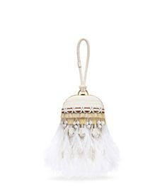 3a4937862941 EMBELLISHED FEATHER DOME CLUTCH Summer Accessories