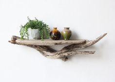 Large Sculptural Natural Driftwood Shelf by OceanSwept on Etsy, $68.00