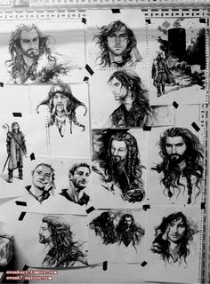 Wall of Hobbit by evankart on DeviantArt. This is soo cool!! I wish I could draw