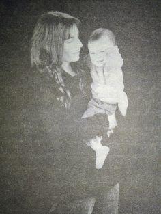 Patti Smith with her daughter Jesse Paris Smith. Last Polaroid taken by Robert Mapplethorpe in 1988.[photo: Patti Smith - Just Kids]