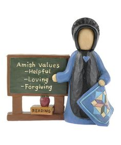 Amish ceramics and life values. Amish Dolls, Dana Lynn, Amish House, Amish Culture, Amish Country, Country Life, Amish Community, Old School House, Horse And Buggy