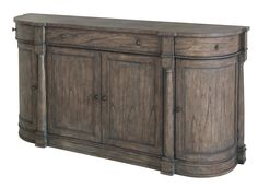 Lincoln Park Weathered Gray Curved End Buffet