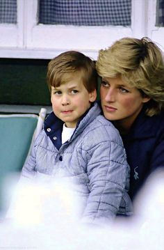 Princess Diana and William....Uploaded By www.1stand2ndtimearound.etsy.com