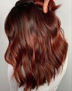 Red Ombre Hair, Hair Color Auburn, Ombre Hair Color, Cool Hair Color, Pink Hair, Hair Colors, Medium Auburn Hair, Winter Hair Colour, Red Brunette Hair