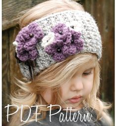 Knitting PATTERN-The Indiya Warmer (Toddler, Child, and Adult sizes) Can also be worn as a cowl. Many more headwarmers at this site . both knit and crochet Headband Pattern, Knitted Headband, Knitted Hats, Bandeau Crochet, Knit Crochet, Crochet Hats, Knitting For Kids, Baby Knitting Patterns, Crochet Patterns