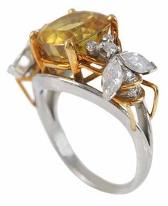 View Yellow sapphire Bee Ring by Jean Schlumberger on artnet. Browse upcoming and past auction lots by Jean Schlumberger. Jewelry Ads, Bee Jewelry, Pearl Jewelry, Jewelery, Jewelry Design, Fashion Jewelry, Gold Jewellery, Jewellery Making, Contemporary Jewellery