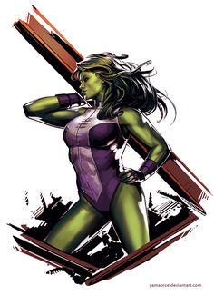 She-Hulk by YamaOrce.deviantart.com on @DeviantArt