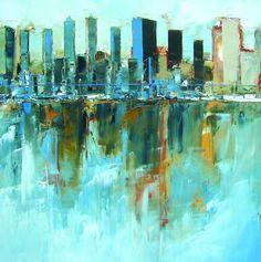 Daniel castan at galerie art et th want city scapes for Castan peintre
