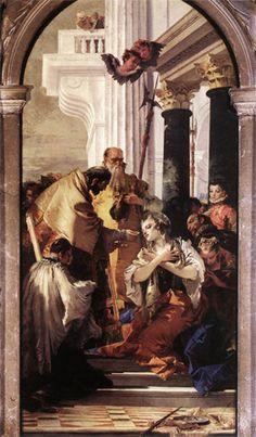 Santi Apostoli  Giambattista Tiepolo The Last Communion of St. Lucy.