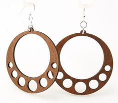 Classic Circle Design   Wooden Earrings Laser by GreenTreeJewelry, $12.95