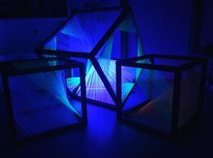 My very own String art cubes! All together.. Like 8houres of patience :) <3 By Lili Michiels