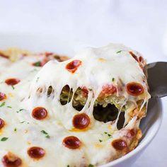 Pizza-Pasta-Auflauf