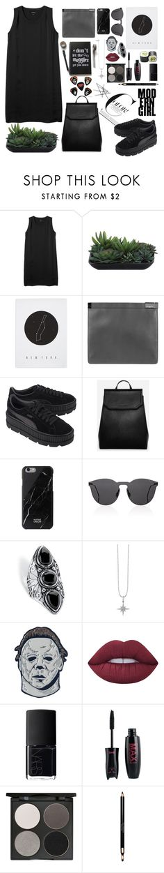 """Untitled #224"" by edelintess on Polyvore featuring Monki, Lux-Art Silks, Knowlita, Maison Margiela, Puma, CHARLES & KEITH, Illesteva, Palm Beach Jewelry, Sydney Evan and Lime Crime"