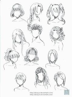 different ways to draw anime hair :) | Manga work I admire ...
