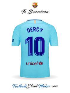 Camiseta FC Barcelona 2017 18 II Dercy 10 2fb0fd30cc0