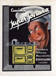 FOSSANO-CUCINA SUPER SOVRANA-BONGIOANNI-1952-ADVERTISING-PUBBLICITA'