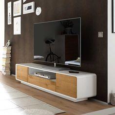 TV Unterschrank in Weiß mit Eiche furniert 170 cm breit Jetzt bestellen unter: https://moebel.ladendirekt.de/wohnzimmer/tv-hifi-moebel/tv-lowboards/?uid=b4f6b7f9-e16d-5d86-9430-736e080c4280&utm_source=pinterest&utm_medium=pin&utm_campaign=boards #rack #phonoschrank #tvboard #fernsehunterschrank #tische #tvhifimoebel #lowboard #schrank #fernsehtisch #unterschrank #möbel #fernsehkommode #phonomöbel #bank #fernseher #tvtische #sideboard #sideboa #tvlowboards #fernsehschrank #wohnzimmer #kommode