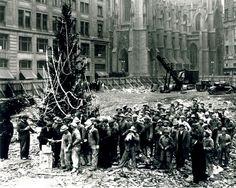 The first tree at Rockefeller Center, 1931. Photo courtesy of Rockefeller Center Archives © 1995 RGI