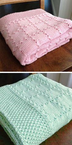 Free Baby Blanket Patterns, Easy Knitting Patterns, Crochet Blanket Patterns, Free Knitting, Baby Patterns, Easy Knit Baby Blanket, Baby Afghan Crochet, Knitted Baby Blankets, Best Baby Blankets