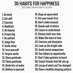 "Vladimer Botsvadze on Twitter: ""30 habits for happiness: Exercise Dream big Be patient Smile often Think positively Speak well of others Make the most of now https://t.co/OuKople2Sn"""
