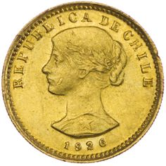 Chile 20 Pesos oder 2 Condores 1926 Gold Gold And Silver Coins, Chile, Coins, World, Oder, Chili, Chilis