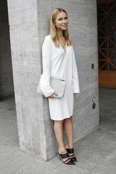 Erst Anfang Juli war die bekannte Bloggerin und Stylistin Gast bei der Fashion Week in Berlin (in einem selbst designten Kleid für die dänische Highstreet-Kette Envii) – diese Woche wird sie auch in ihrer Heimatstadt Kopenhagen in allen Front Rows sitzen