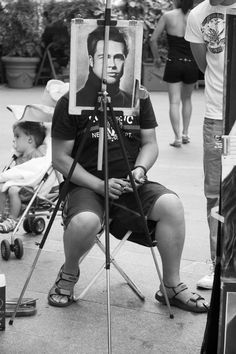Choose yourself street photography, black  white funny