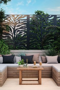 🌿 R E L A X 🌿 Create a private & peaceful space so you can truly enjoy your garden this summer. Our decorative garden screens offer the privacy you crave & don't they look beautiful? 😍 Metal Garden Screens, Outdoor Screens, Sage Garden, Garden Oasis, Contemporary Garden, Contemporary Design, Garden Screening, Decorative Screens, Elements Of Style
