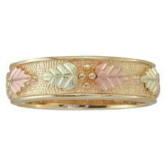 mens black hills gold wedding ring