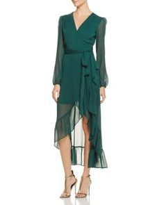WAYF Only You Ruffle Wrap Dress - 100% Exclusive | Bloomingdale's