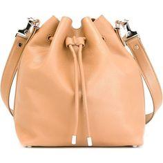 Proenza Schouler Medium Bucket Bag (£760) ❤ liked on Polyvore featuring bags, handbags, shoulder bags, brown, red handbags, proenza schouler purse, bucket bag, red purse e proenza schouler shoulder bag
