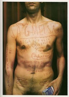 Stefan Sagmeister tries to touch the heart of the viewer within his pieces of work. In this AIGA lecture poster, Sagmeister had the . Stefan Sagmeister, Sagmeister And Walsh, Mises En Page Design Graphique, Detroit, Illustration Arte, Illustrations, Vintage Poster, Museum, Lettering